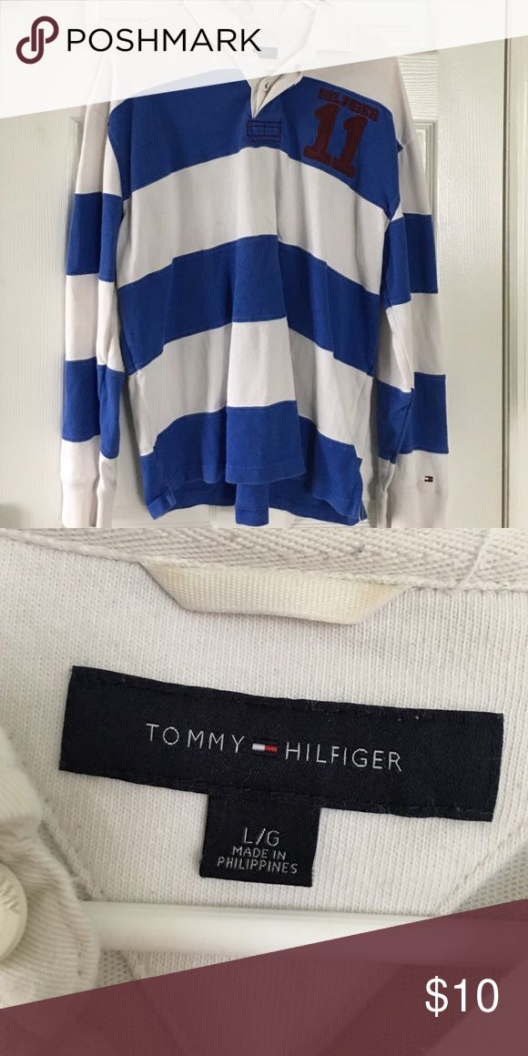 Striped Tommy Hilfiger Long-Sleeve Polo Striped Tommy Hilfiger Long-Sleeve Polo Tommy Hilfiger Shirts Polos
