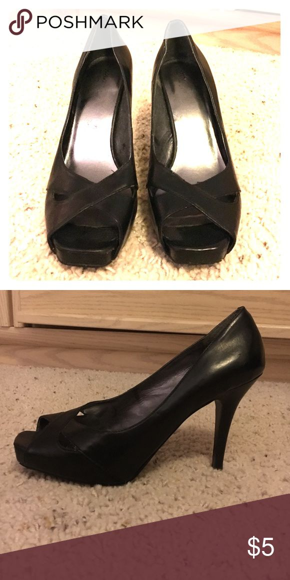 Black Pumps Black Open Toe Pumps Shoes Heels