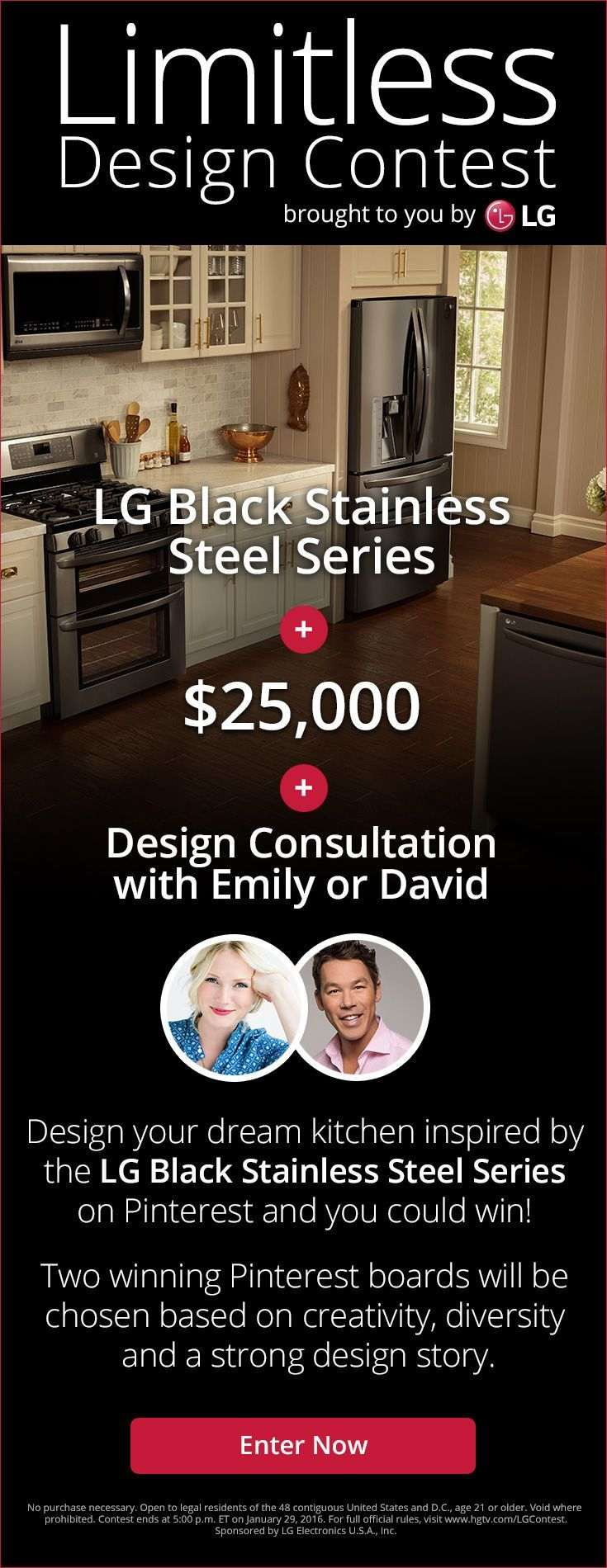 """A month ago I attended a fabulous event with LG Electronics, introducing their new kitchen appliance line featuring an exciting new finish called """"Black Stainless Steel"""".To give kitchen design enthusiasts across the nation a unique opportunity to showcase their Pinterest skills, LG Electronics invites youto take part in the LG Limitless Design Contest and create [...]"""