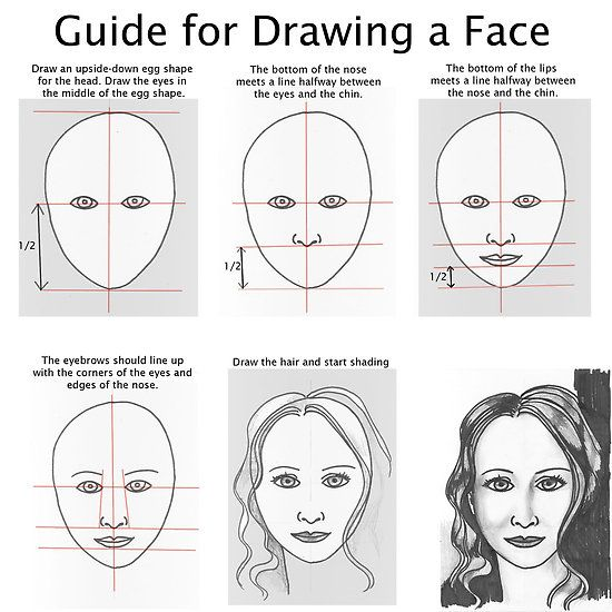 how to draw female faces realistically