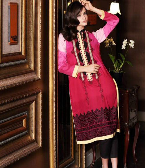 Firdous Embroidered Cambric/Cotton Kurti Collection FF_1B