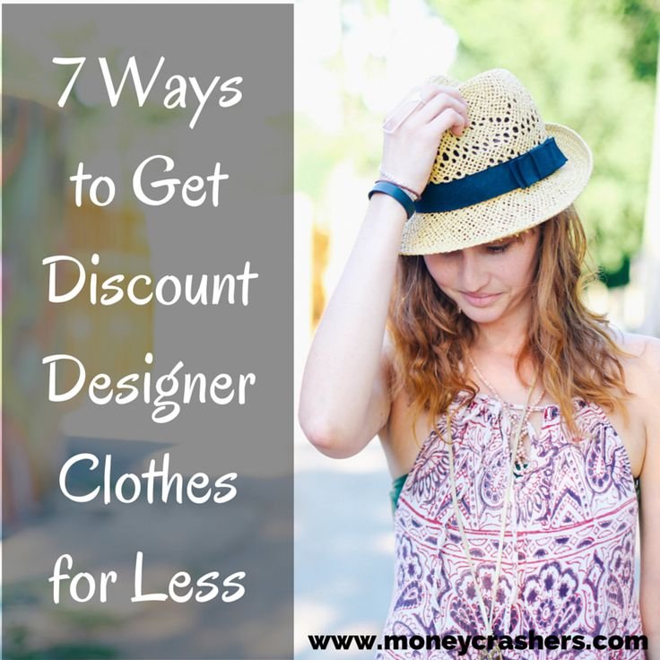 7 Ways to Get Discount Designer Clothes for Less