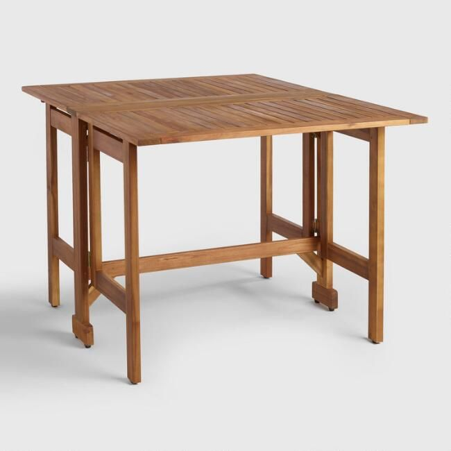 Wood St. Lucia Folding Balcony Table - v1