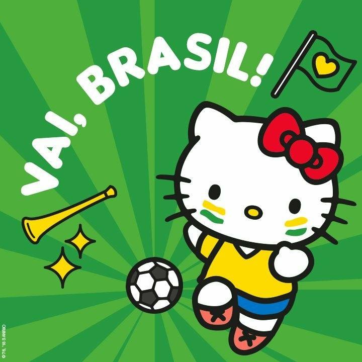 Hoje E O Primeiro Jogo Do Brasil No Mundial Quem Esta Pronto Para Torcer Muito Hello Kitty Jogos Do Brasil Estampas