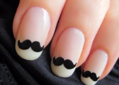 Uploaded with Pinterest Android app. Get it here: http://bit.ly/w38r4m: Nails Art, French Manicures, Nailart, Style, Moustache Nails, Nailsart, Beautiful, Mustache Nails, Mustachenails