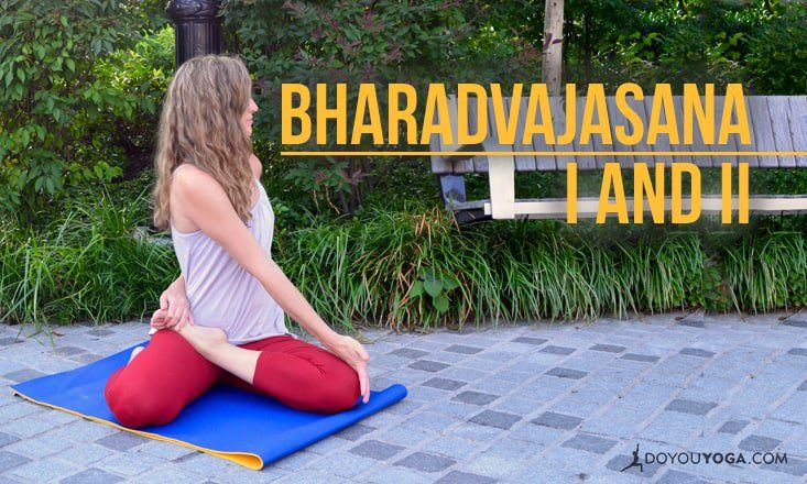 Bharadvajasana I and II are both seated twists that can tone your core and increase lower body flexibility. Here's a step-by-step guide on how to do them.