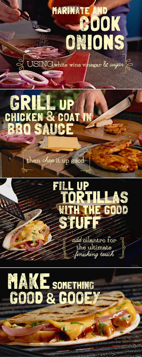 Grilled Chicken Quesadillas recipe