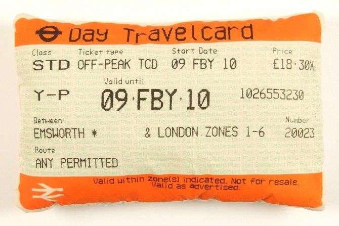 travelcard cushion - thats looks like mine when I went to London perhaps... I wonder if you could make it?