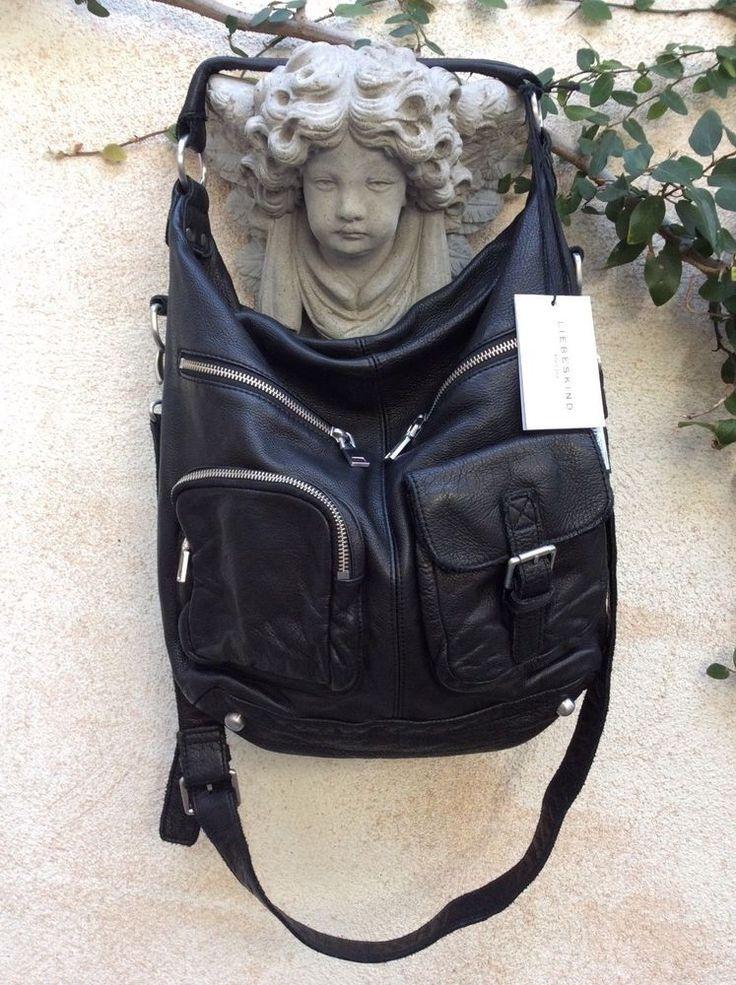 Liebeskind Berlin Andrea Vintage Leather Convertible Hobo XBody Messenger Bag #LiebeskindBerlin #ConvertibleCrossbodyHoboMessenger