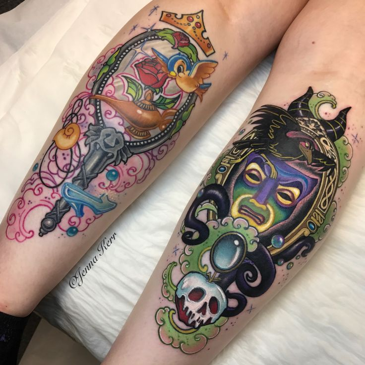 #Disney inspired tattoos #princesses and #villains