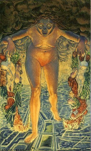 La nave de Asterión: Crepúsculo (1900), Carlos Schawb