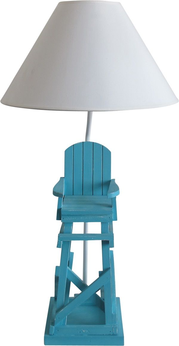 Earth de Fleur Homewares - Table Lamp Blue Lifesaver Chair Set 2