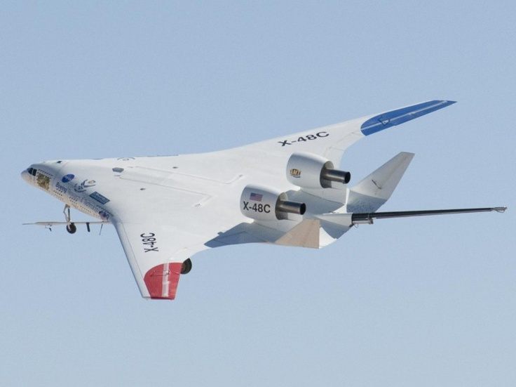 The NASA-Boeing X-48C Hybrid/Blended Wing Body research aircraft