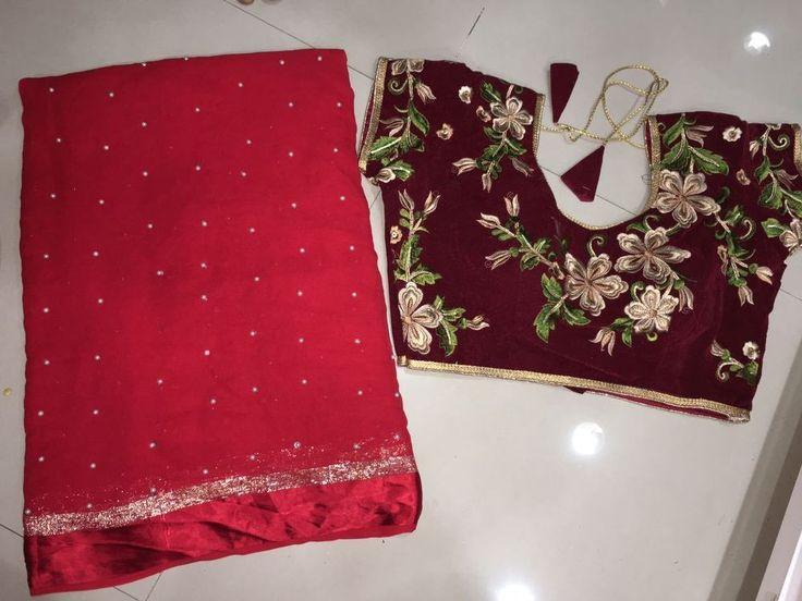 Bollywood Sarees Designer Saree with readymade stitched blouse size 38 #Handmade #sareesari