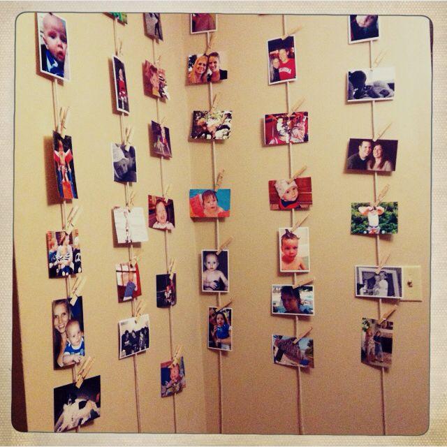 hanging photo wall.