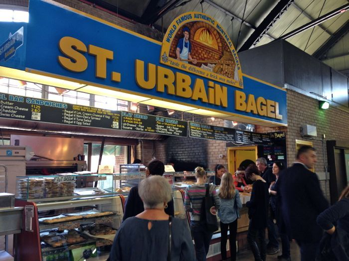 I can't visit Toronto without a Onion Bagel with Garlic Cream Cheese from St. Urbain Bagel. Pop downstairs to the coffee roasters and grab a cup to go with OR head over to Freshly Squeezed for an orange or grapefruit juice.