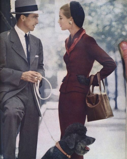 theniftyfifties:  1950s Vogue fashion.  I thoroughly enjoy women's fashions from the fifties.