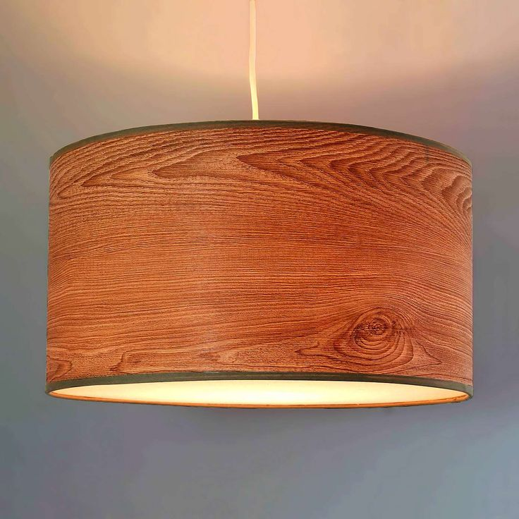 Ceiling Light Fittings Dunelm Mill: Sammie Wood Veneer Effect Shade