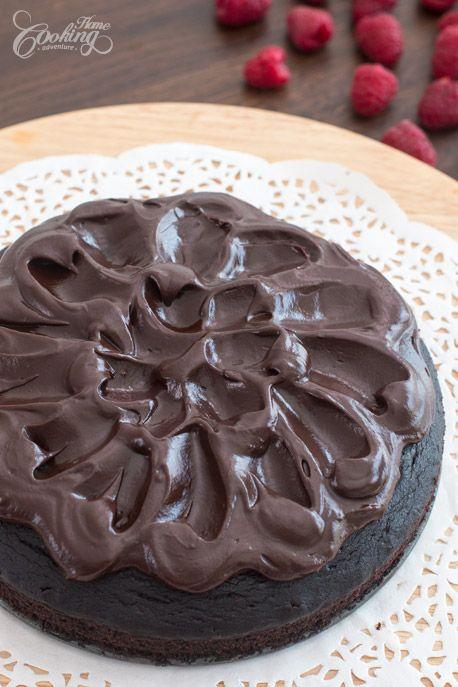Crazy Cake with Chocolate Ganache