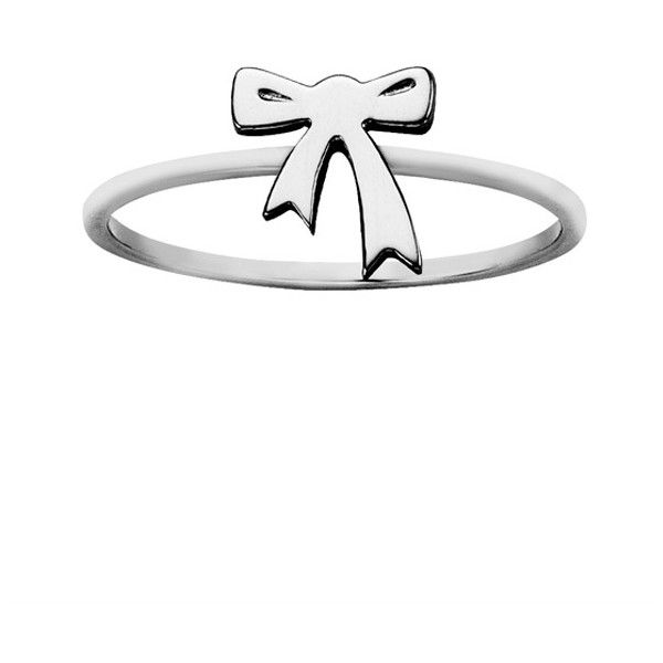 Karen Walker Bow Ring (77 NZD) ❤ liked on Polyvore featuring jewelry, rings, sterling silver jewelry, sterling silver rings, sterling silver jewellery, bow ring and bow jewelry