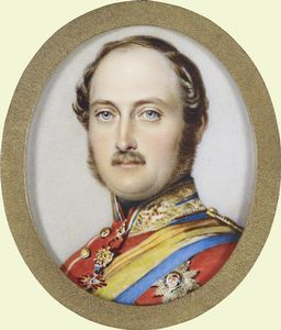 Prince Albert (1819-1861) miniature by Guglielmo Faija in 1856. The name Saxe-Coburg-Gotha came to the British Royal Family in 1840 with the marriage of Queen Victoria to Prince Albert, son of Ernst I, Duke of Saxe-Coburg & Gotha. Queen Victoria remained a member of the House of Hanover. The only British monarch of the House of Saxe-Coburg-Gotha was her Uncle King Edward VII who reigned for 9 years. King George V replaced the German-sounding title with that of Windsor during the 1st World…