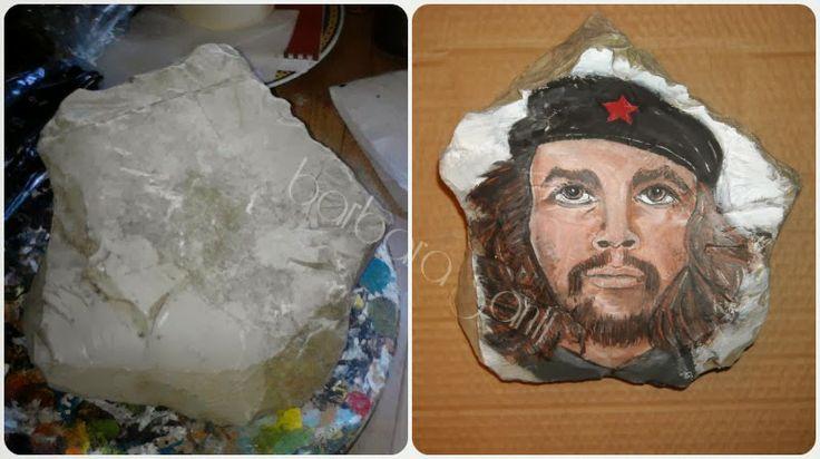 il mondo in un sasso: #cheguevara #portrait #rockpainting