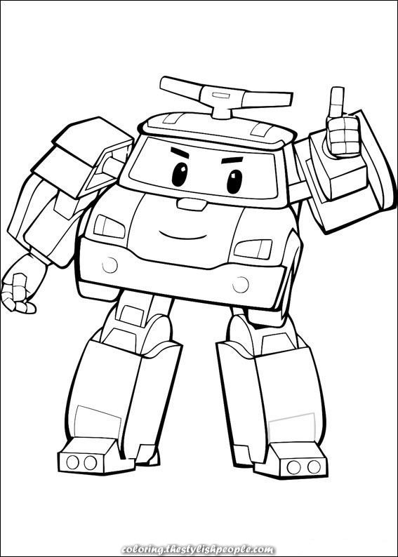 Robocar Poly Coloring for kids. Drawings for printing and ...