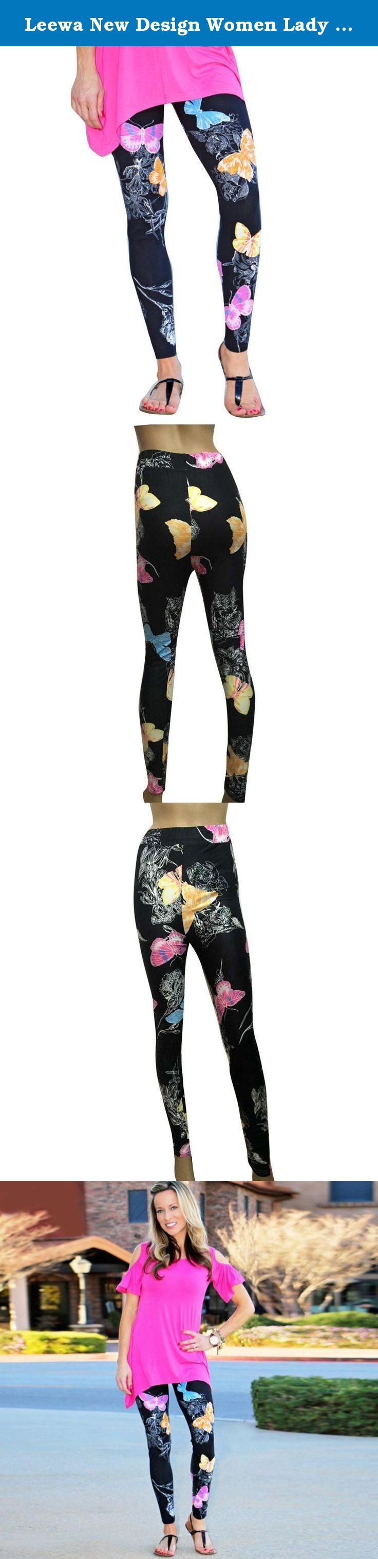"""Leewa New Design Women Lady Skinny Butterfly Printed Stretchy Pants Leggings (M, Gray) (XL, Black). Specifications: Gender:Women Material:Cotton Clothing Length:Regular Pattern Type:Print Sleeve Style:Regular Style:Fashion Package include:1PC Leggings Note: Factory Guarantee the Pant style is the same but some Pant Pattern not at the same place, factory make them random.Hope you can understand. Size:S -----Waist:62-76cm/24.4-29.9"""" -----Hip:73-88cm/28.7-34.6"""" -----Length:100cm/39.4"""" Size:M..."""