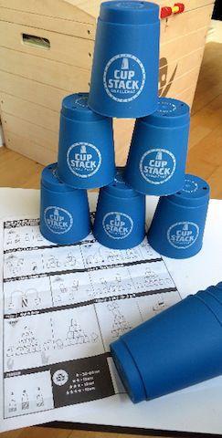 Jeu d'adresse et de concentration: le Cup Stack