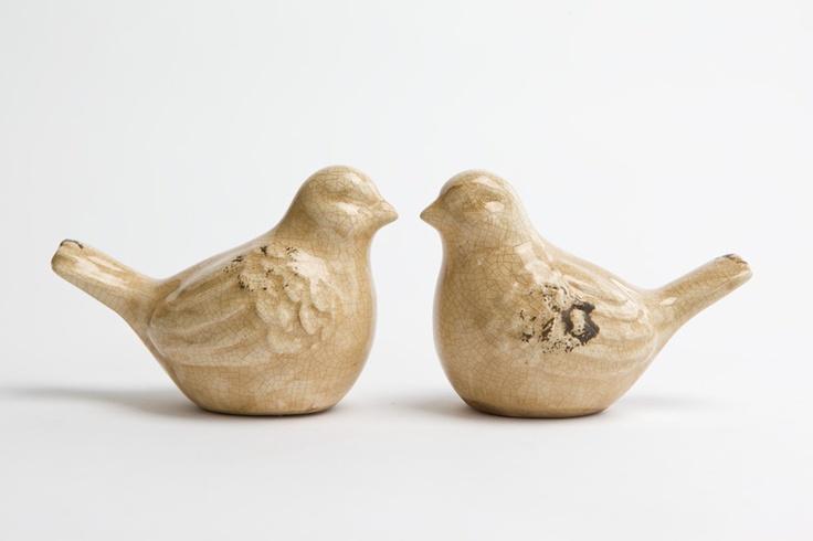 Ceramic Birds $4each from Loot.