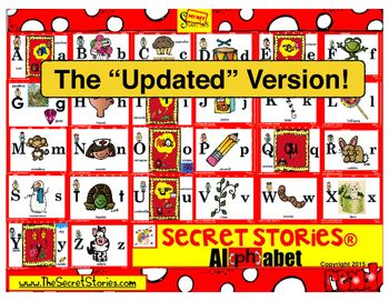 """The SECRET STORIES® """"Mini-Mats"""" are a smaller, student-size version of SECRET STORIES® 'sound-cue' prompts for the SUPERHERO VOWELS™, SNEAKY Y™, and even """"qu!"""""""