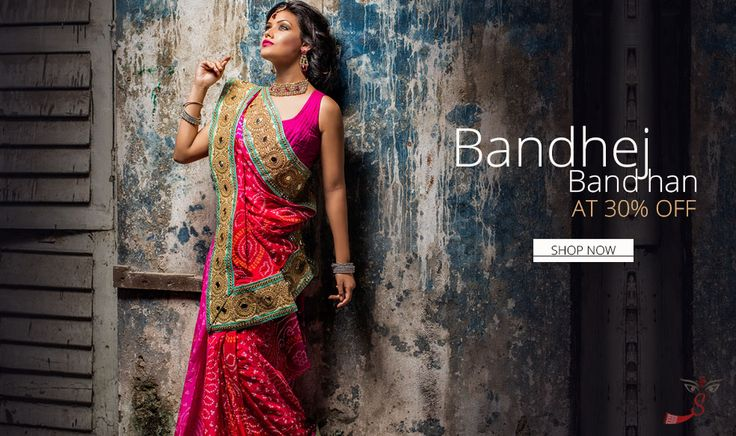 The term 'Bandhej' or 'Bandhani' is derived from the word 'Bandhan' that means tying up. An ancient art practiced mainly in the state of Rajasthan and Gujarat, Bandhej is practiced in places like Jaipur, Udaipur, Bikaner and Ajmer of Rajasthan.