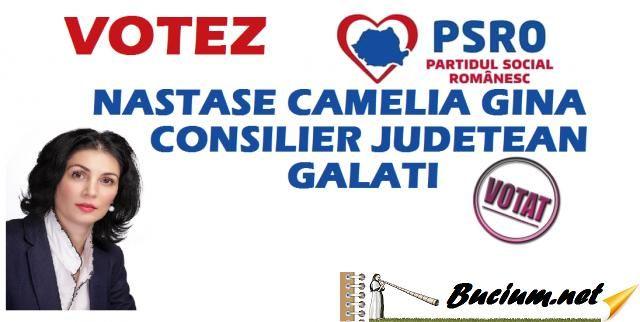 VOTEAZA Nastase Camelia Gina-Consilier Judetean Galati