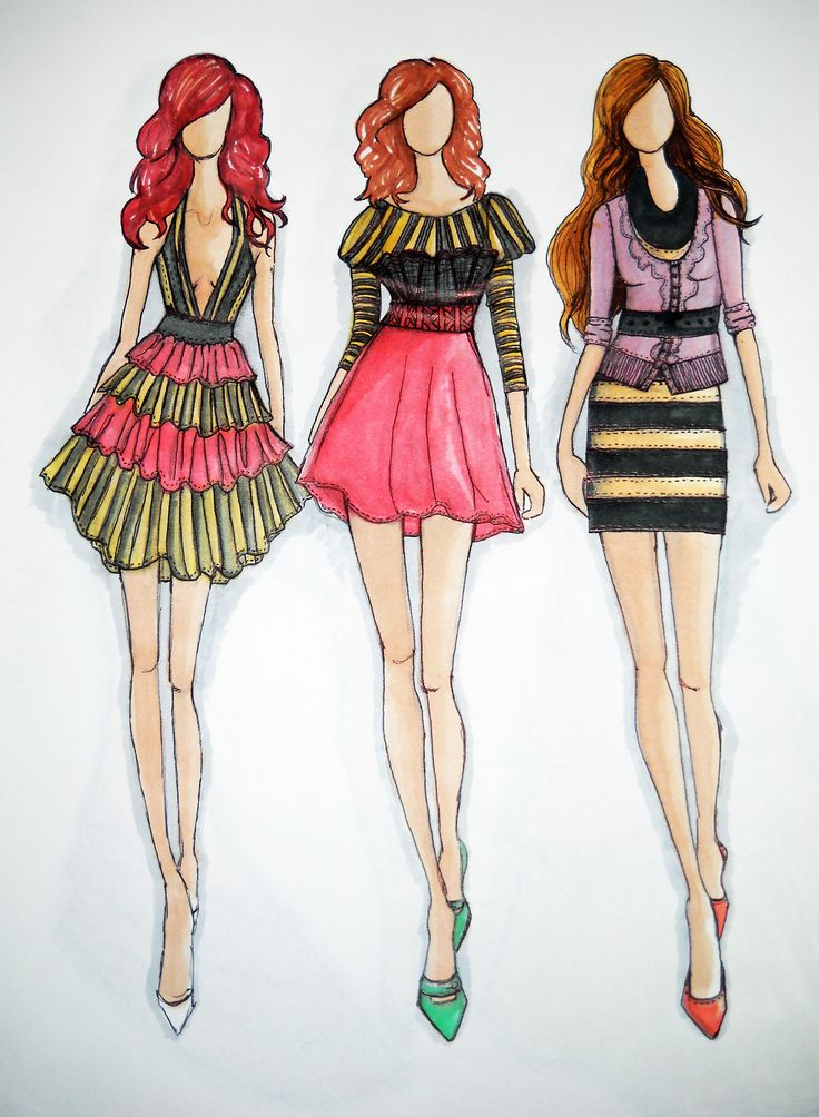 100 best fashion sketches images on Pinterest