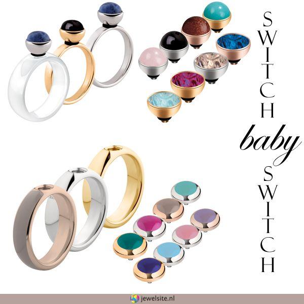 #MelanO staat online! Supermooie #ringen met verwisselbare zettingen (steentjes) http://www.jewelsite.nl/melano