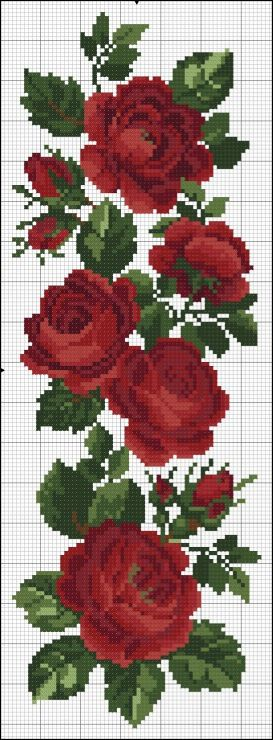 Beautiful cross stitch roses