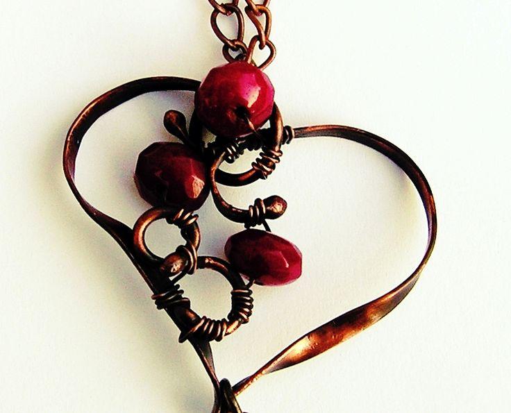 """by SHINE.   """"RUBINOWE  SERCE"""" MAGICZNY WISIOR w  Biżuteria ze Szczyptą  Magii * by SHINE na DaWanda.com"""