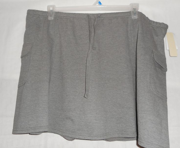 New Womens Size 3X Gray Athletic Skirt Skort Vintage Cotton #VintageCotton #AthleticSkirtSkort