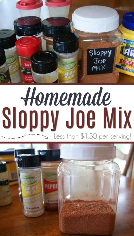 This homemade Sloppy Joe Mix is less than $1.50 per serving AND much healthier than store-bought!