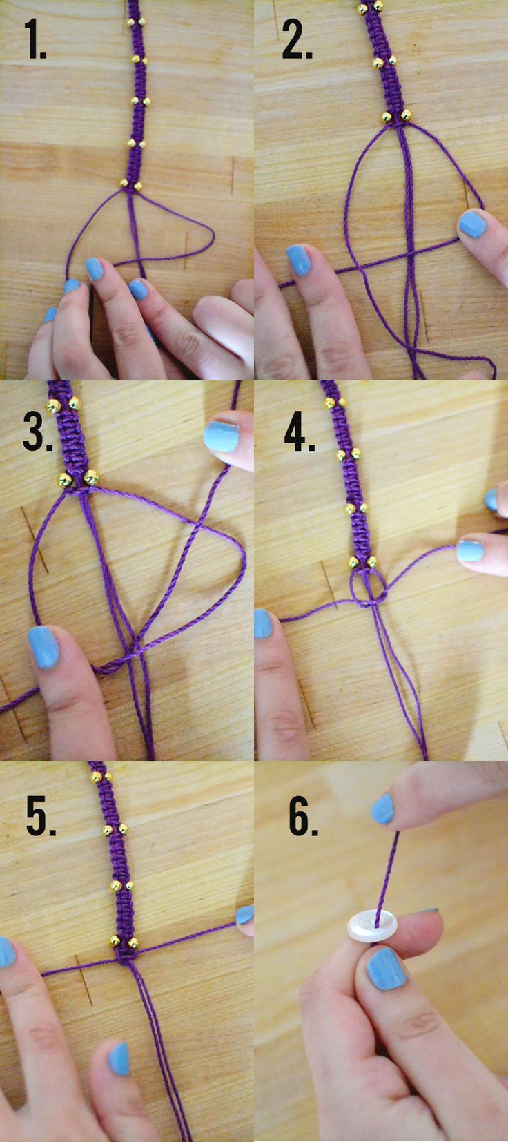 Hemp Bracelet Tutorial via Whimsy Darling