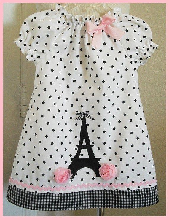 Girls dress Eu mudaria o decote: colocaria uma gola bebê no mesmo padraão da barrra