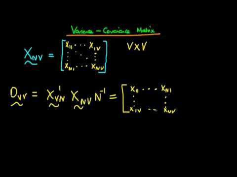 Variance-covariance matrix using matrix notation of factor analysis - YouTube