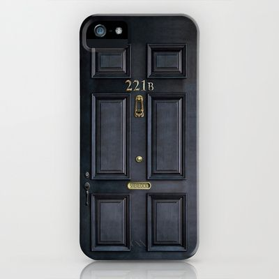 Classic Old sherlock holmes 221b door iPhone 4 4s 5 5c, ipod, ipad, tshirt, mugs and pillow case iPhone & iPod Case by Three Second - $35.00