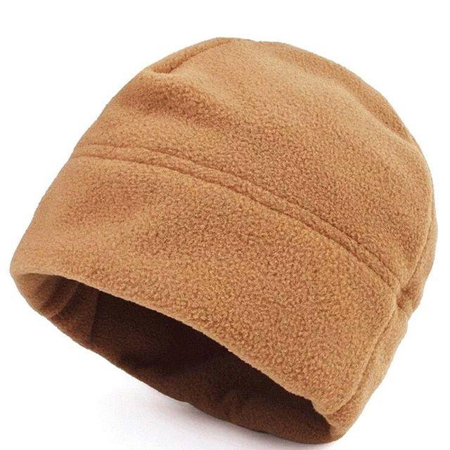 b82d66c7f Unisex Military Thermal Fleece Beanie Hat Winter Windproof Watch Cap ...