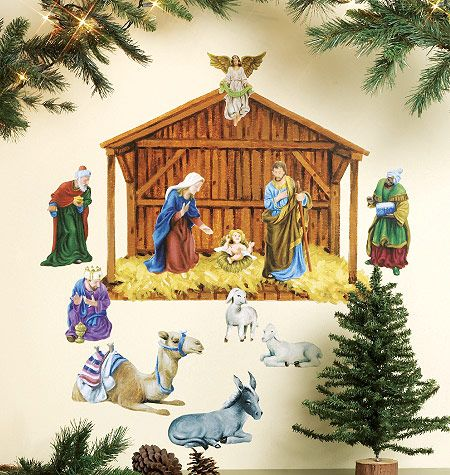 8 best images about wallies holiday peel stick on for Wall scenes
