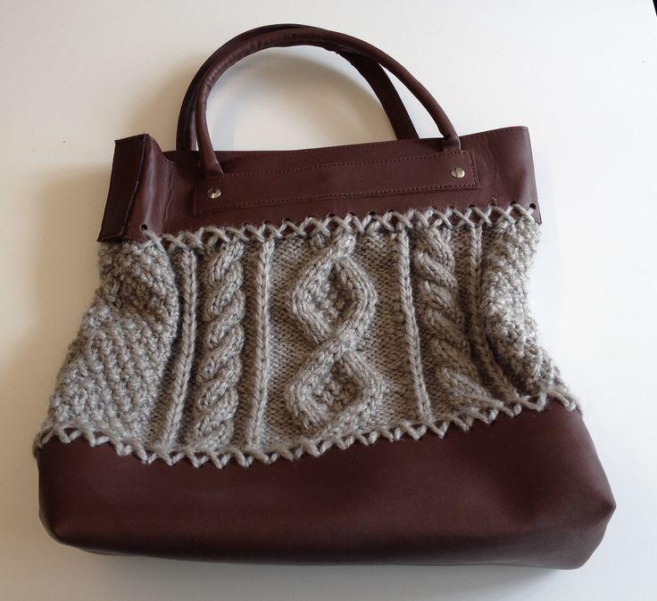 Ravelry: 217 Cable Knit Bag by Bergère de France