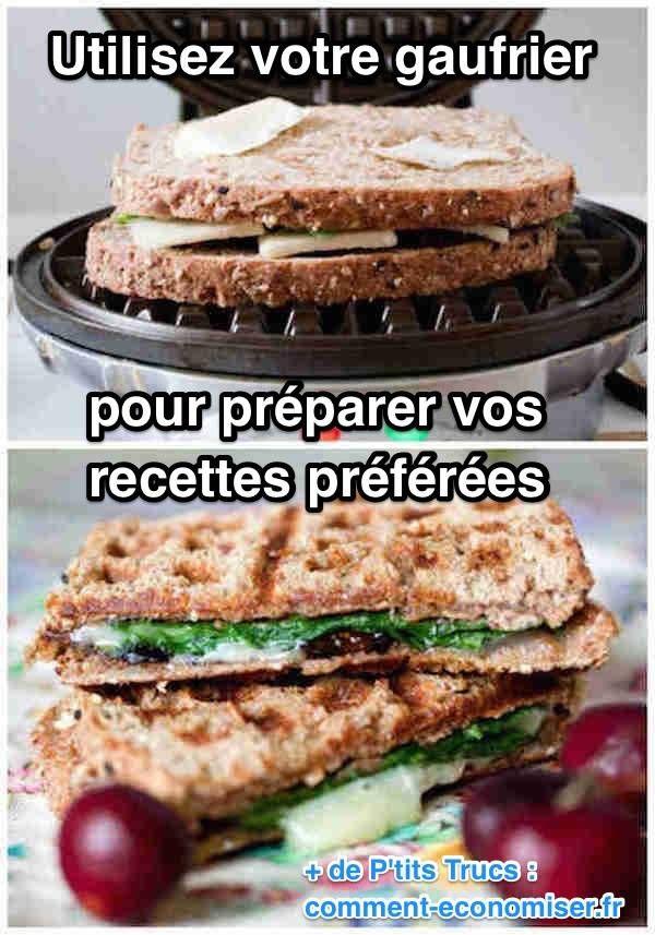 Saviez-vous que l'utilisation du gaufrier s'étend bien au-delà des simples gaufres ? En effet, les gaufriers sont aussi parfaits pour cuire et griller certains aliments. Découvrez l'astuce ici : http://www.comment-economiser.fr/12-recettes-surprenantes-a-preparer-avec-gaufrier-.html?utm_content=bufferc853c&utm_medium=social&utm_source=pinterest.com&utm_campaign=buffer