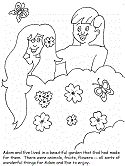 adam and eve coloring pages