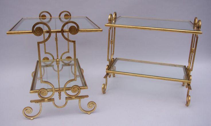 paire de bouts de canap en fer forg et dor art d co tables d 39 appoint pinterest art et. Black Bedroom Furniture Sets. Home Design Ideas