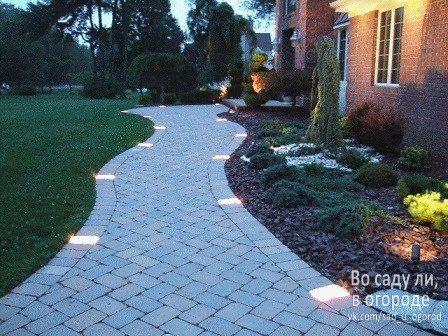 Уличное освещение придомовой территории частного дома | Дачный сад и огород